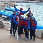 Group rafting outing wellness health